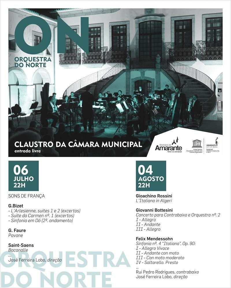 Orquestra do Norte atua no Claustro da Câmara Municipal